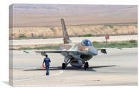 IAF F16I Fighter jet, Canvas Print
