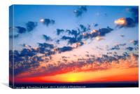 Mediterranean sun set, Canvas Print