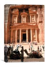 Jordan, Petra the Treasury , Canvas Print