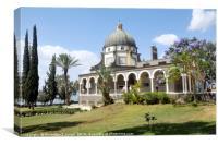 Israel, Galilee, Church of the Beatitudes , Canvas Print
