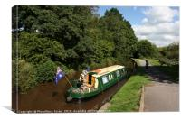 UK, Wales, Powys, Brecon canal , Canvas Print