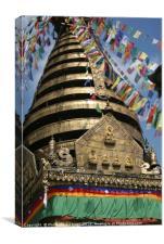 Buddhist prayer flags , Canvas Print