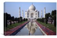 Taj Mahal landmark, Canvas Print