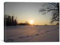 Winter Sun - Soumenlinna, Canvas Print