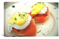 Sunday Brunch - Eggs Royale, Canvas Print