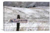 No Trespassing, Canvas Print