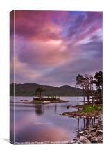 Sunset at Loch Assynt, Scotland, Canvas Print