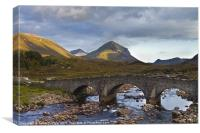 Sligachan and Marsco mountain in background, Canvas Print