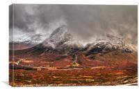 Buachaille Etive Mor in winter, Scotland, Canvas Print