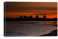 Aberdeen by sunset, Canvas Print