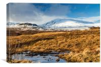 Ben Vrackie in winter, Scotland, Canvas Print