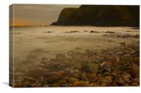 Dawn at Stonehaven, Canvas Print