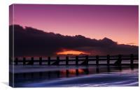 Aberdeen beach before sunrise, Canvas Print