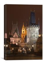 Lesser Town Bridge Towers. Prague, Canvas Print