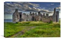 Slains Castle at Cruden Bay, Aberdeenshire, Canvas Print