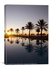Paradise Reflection, Canvas Print