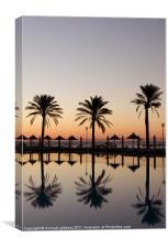 palm tree paradise, Canvas Print