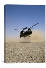 chinook helicopter landing, Canvas Print
