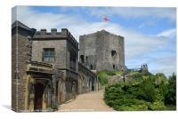 Clitheroe Castle lancashire, Canvas Print