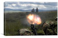 A firepower demo, Canvas Print
