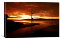 Humber Sunset, Canvas Print
