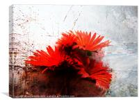 floral abstract, Canvas Print