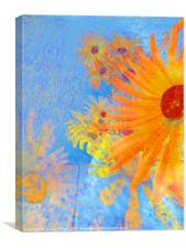 abstract floral, Canvas Print