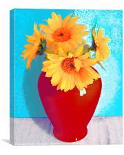 sun flowers, Canvas Print