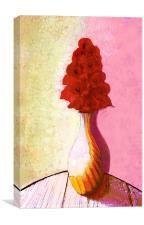 floral expressionism, Canvas Print