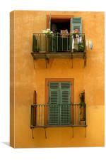 Vieux Nice balcony, Canvas Print
