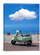 Cote D'Azur Scooter, Canvas Print