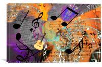 musical 12, Canvas Print