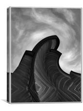 Edges From The Sky, Canvas Print