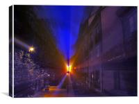 Night light beam, Canvas Print