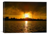 Lower Test Sunset., Canvas Print