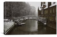 Snowy Cambridge, Canvas Print