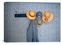 wall  and hats, Canvas Print