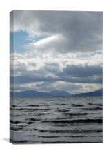 stormy sunday on lake prespa, Canvas Print
