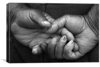 hands of grandpa, Canvas Print