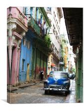 Downtown Havana, Canvas Print