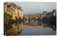 The Pont-Vieux Bridge, Espalion France, Canvas Print