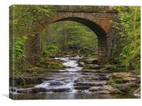 Bridge over May Beck, Canvas Print