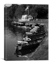 Ruswarp Pleasure Boats, Canvas Print
