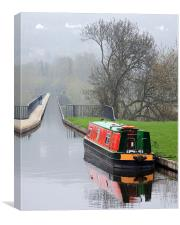 Narrow Boat, Canvas Print