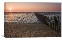 Mersea Sunrise, Canvas Print