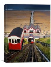 Saltburn Funicular Cliff Lift, Canvas Print