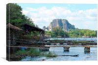 Lopburi reservoir, Canvas Print