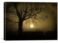 Halloween Sunset, Canvas Print