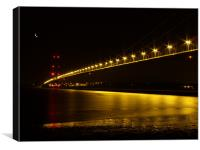River of Gold- Humber Bridge, Canvas Print