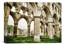 Cloisters of Rievaulx Abbey, Canvas Print